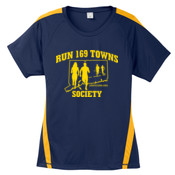 Ladies Navy and Gold T